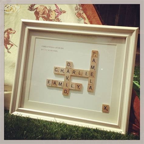 scrabble gift medium vintage scrabble mothers day retro unique