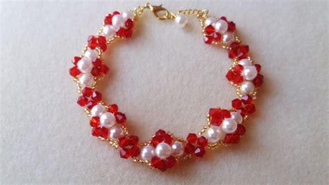 como hacer pulseras con perlas como hacer pulsera de perlas y tupis de cristal youtube