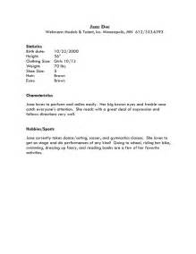 modeling resume template beginners resume exle 35 child modeling resume sle child