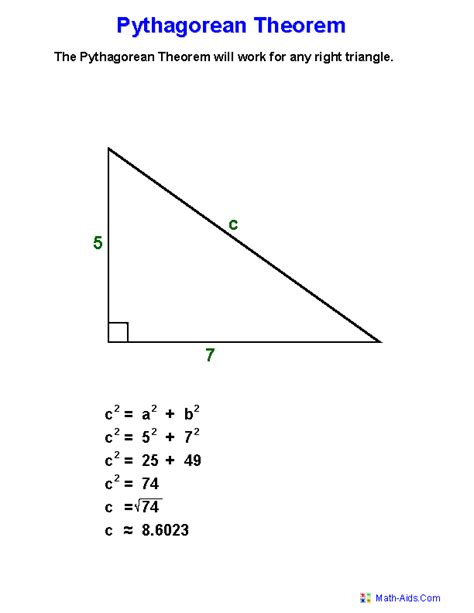 The Pythagorean Theorem Worksheet Answers by Pythagorean Theorem Definition Worksheets Places To