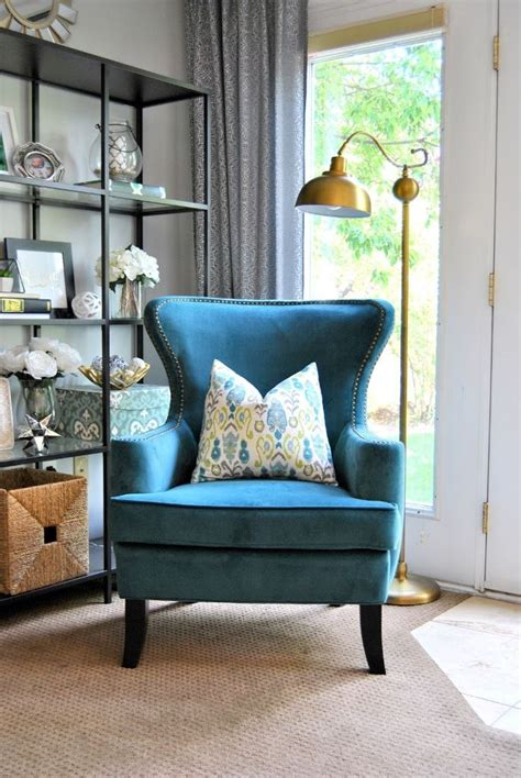Teal Living Room Chair Teal Accent Chairs In Living Room Living Room