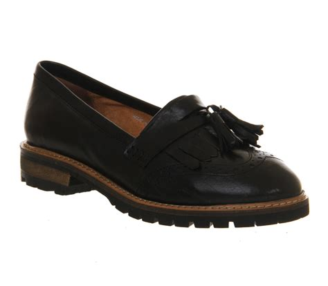 office black loafers office tantalising loafer black leather flats