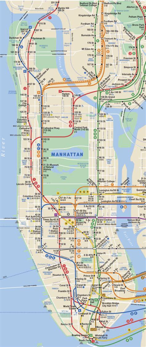 subway map for manhattan 41j 187 archive what spot in manhattan is farthest