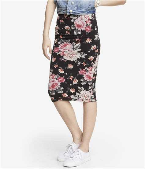 Print Midi Pencil Skirt lyst express print midi pencil skirt