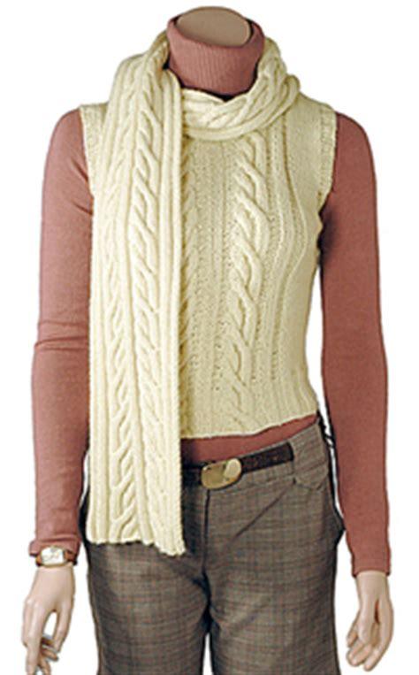 aran vest knitting pattern aran knit vest and scarf pattern free knitting patterns
