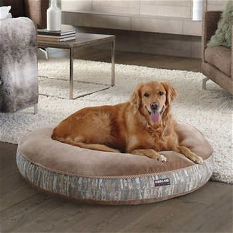 costco pet bed kirkland signature 42 quot round pet bed brown waterfall