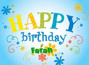happy birthday farah happy birthday