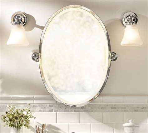 oval pivot bathroom mirror kensington pivot oval mirror