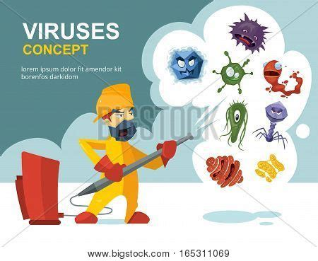 Large Plate 31 900 Per Pcs anti germs microbes vector vector photo bigstock