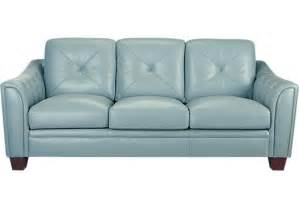 home marcella spa blue leather sofa