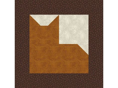 Patchwork Cat Pattern - 12 quot patchwork cat quilt block pattern