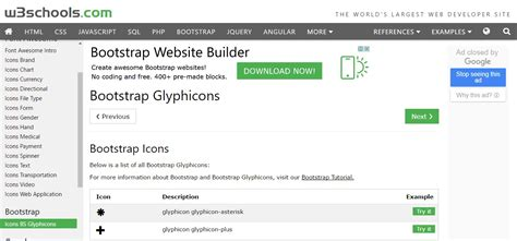 bootstrap layout icons bootstrap icons class