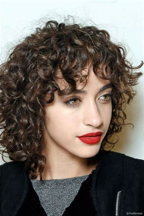 haircuts for long curly hair with bangs 25 best ideas about curly bangs on pinterest curled