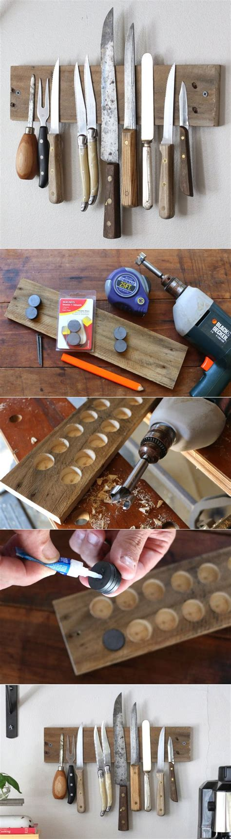 another bright idea safe kitchen knife storage so cool a diy magnetic wall display in your kitchen of