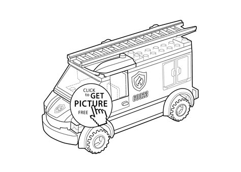 lego vire coloring pages lego fire engine coloring page for kids printable free