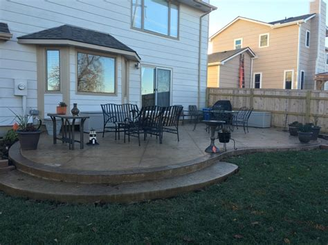 patio backyard design patio designs pool remodeling wichita sted concrete