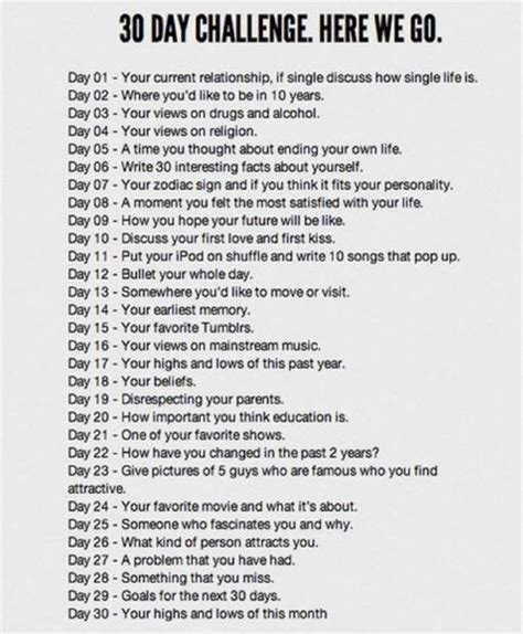 30 question challenge the actual questions by kibbasan on deviantart