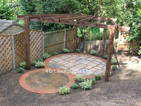 Gorgeous Circular Patio With Pergola From 4d Landscape Ltd Circular Patio Designs