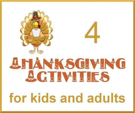 four thanksgiving activities for and adults