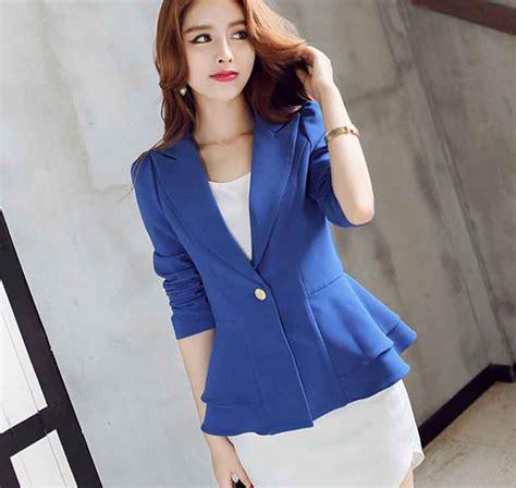 Blazer Wanita Korea blazer wanita korea model peplum cantik b2905