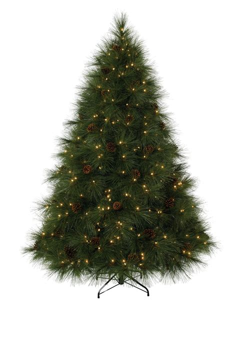 7 ft ponderosa needle pine clear prelit tree