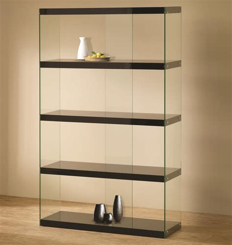 Black Bookshelf Furniture With Glass by Bookshelf Amazing Glass Bookcases Glass And Metal
