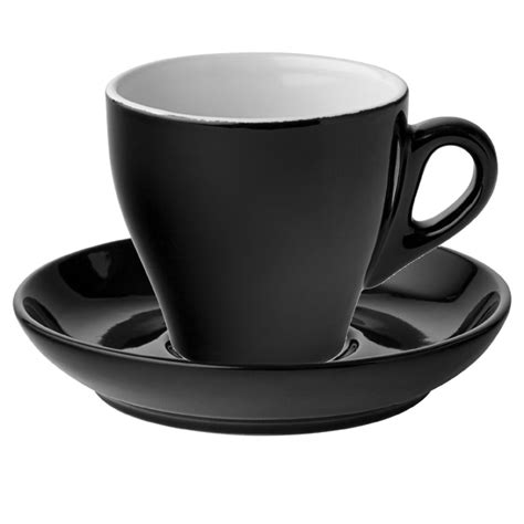cappuccino cups midnight cappuccino cups saucers black 5 5oz 160ml