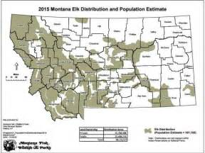 colorado elk population map images
