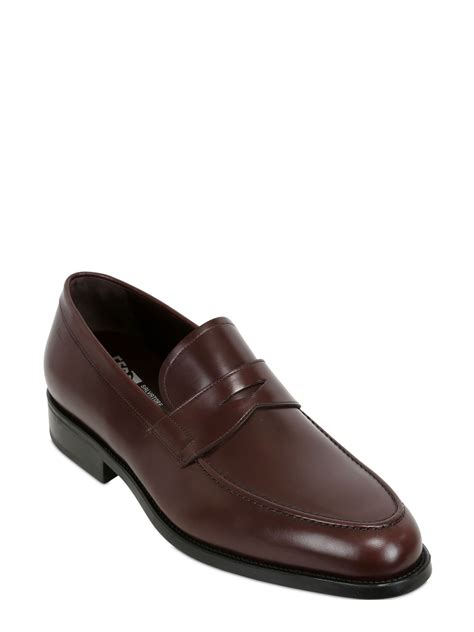 ferragamo loafers ferragamo paladino leather loafers in brown for