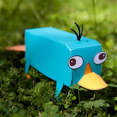 Disney 3d Papercraft - perry the platypus 3d papercraft disney family