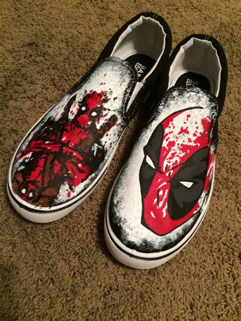 Comic 8 Custom splatter paint custom deadpool shoes