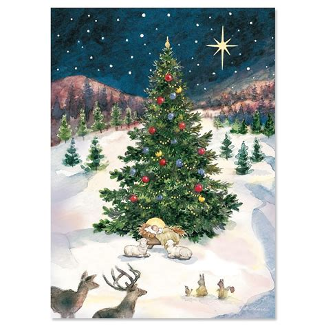 collectionof bestpictures of christmas tree with manger religious cards current catalog