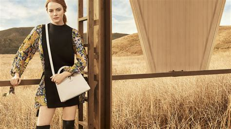 emma stone vuitton emma stone louis vuitton pre fall 2018 collection celebzz