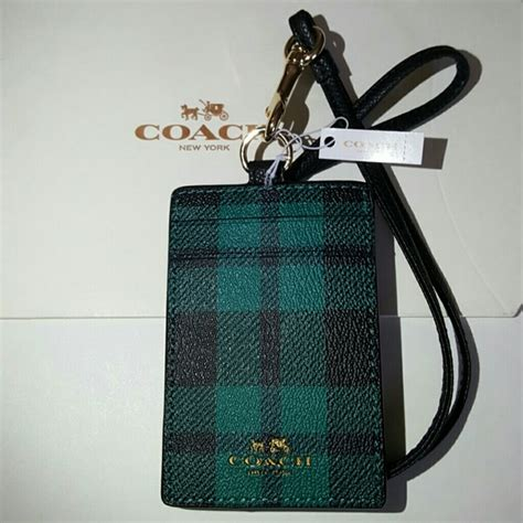 Coach Lanyard Id 10 38 coach accessories coach lanyard id holder from