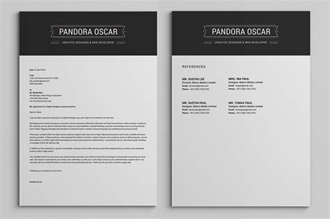 pandora cover letter 2 pages clean resume cv pandora on behance