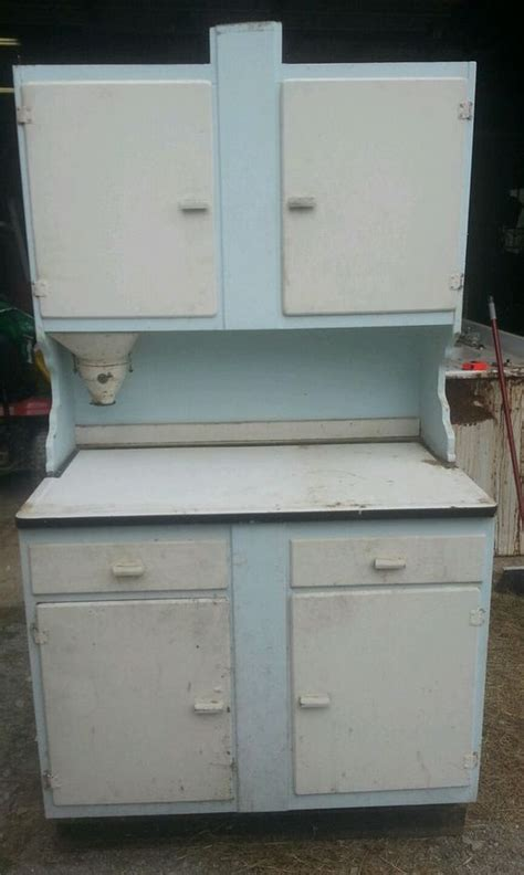 antique hoosier cabinet flour mill bin vintage kitchen