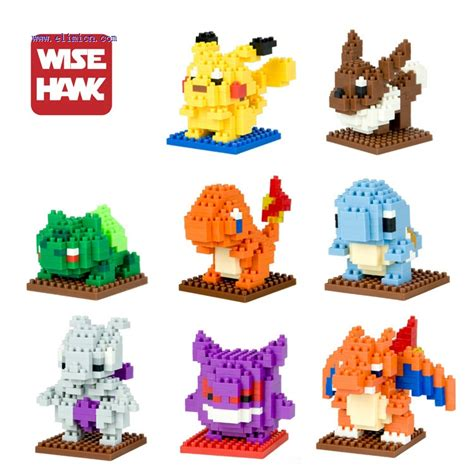 Nano Block Bricks Pikachu Lele weagle mini blocks