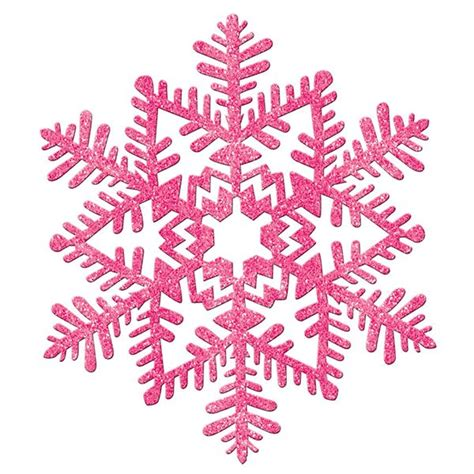 glitter snowflake pink 11in pinterest snowflakes