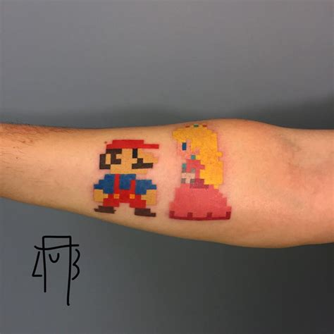 princess peach tattoo mario and best ideas gallery
