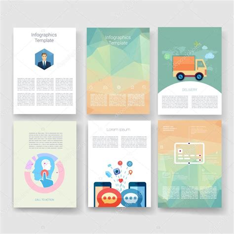 brochure design templates collection layout free vector in vector brochure design templates collection applications