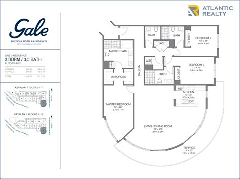 boutique floor plan gale boutique hotel residences new miami florida