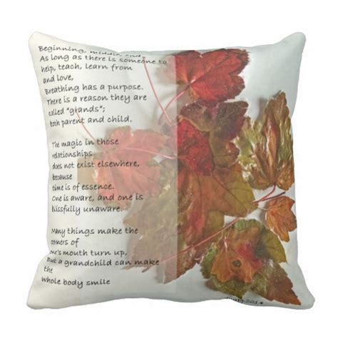 Poems About Pillows by Grandmother Poem Throw Pillow Zazzle