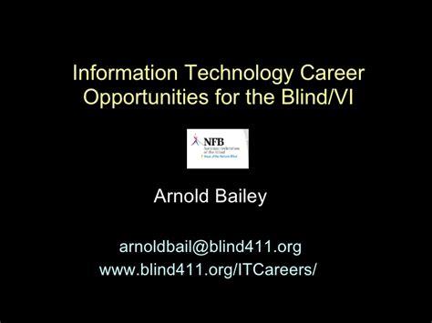 Mba Information Technology Career Opportunities by Information Technology Career Opportunities For The Blind Vi
