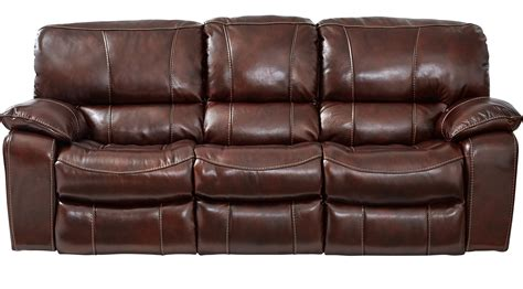 Power Reclining Sofa Leather Sand Beige Erson Mahogany Reddish Brown Leather Power Sofa Reclining Contemporary