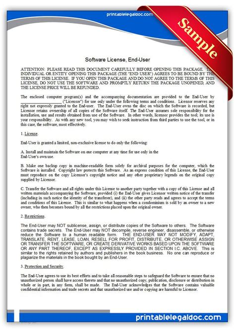software license certificate template printable software license certificate template free