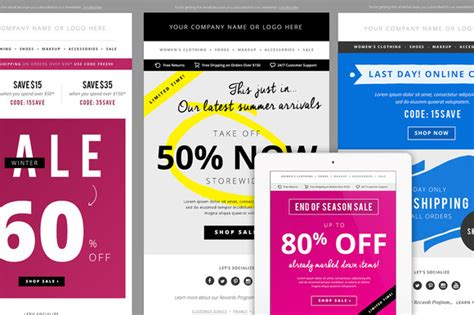 35 Stylish And Popular Email Templates Dzineflip Outlook Email Blast Templates