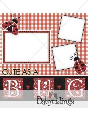 ladybug scrapbook layout ladybug scrapbooking layout baby scrapbook pinterest