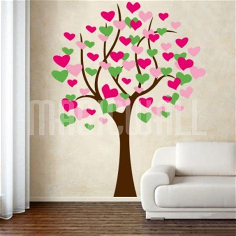 wall stickers hearts wall stickers beautiful tree magic wall decals