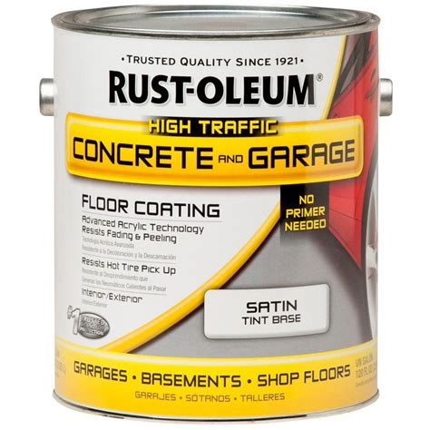 rust oleum 1 gal tint base concrete floor paint 260726 the home depot