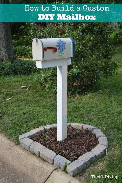 diy mailbox how to build paint and install a custom diy mailbox